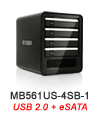 MB561US-4SB-1 Quad Bay eSATA & USB 2.0 External Enclosure