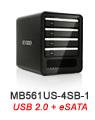 MB561US-4SB-1 Quad Bay eSATA & USB 2.0 External Enclosure