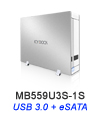 MB559U3S-1S Ultra Slim USB 3.0 & eSATA External HDD Enclosure