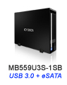 MB559U3S-1SB Ultra Slim USB 3.0 & eSATA External HDD Enclosure