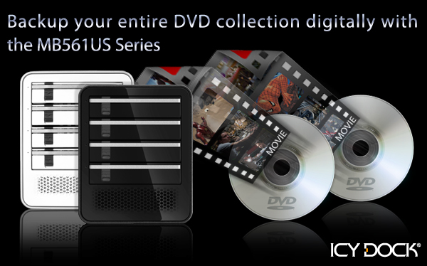 Backup your entire DVD collection digitally with the MB561US series